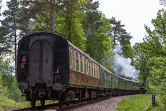 KINGSCOTE, SUSSEX/UK - MAY 23 : Rebuilt Bulleid Light Pacific No Stock Image
