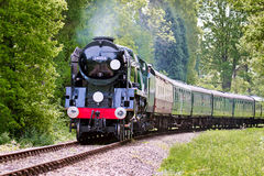 KINGSCOTE, SUSSEX/UK - MAY 23 : Rebuilt Bulleid Light Pacific No Royalty Free Stock Images