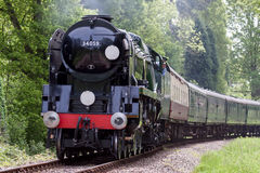 KINGSCOTE, SUSSEX/UK - MAY 23 : Rebuilt Bulleid Light Pacific No Royalty Free Stock Photography