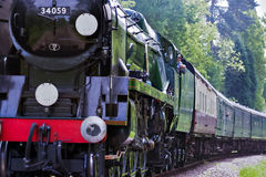 KINGSCOTE, SUSSEX/UK - MAY 23 : Rebuilt Bulleid Light Pacific No Stock Photo