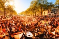 Kingsday Άμστερνταμ Στοκ Φωτογραφία
