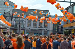 Kingsday in Eindhoven, Holland Royalty Free Stock Images