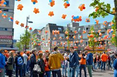 Kingsday in Eindhoven, Holland Stock Photo