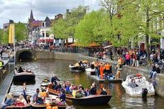 Kingsday in Leeuwarden royalty free stock photos