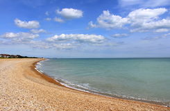 Kingsdown海滩风景视图肯特英国 图库摄影