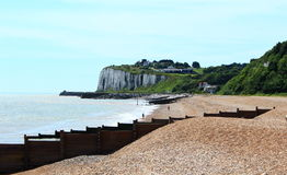 Kingsdown beach and cliffs view Kent UK Stock Photo