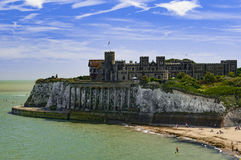 Kingsgate Castle. On the cliffs above Kingsgate Bay, Broadstairs, Kent county, England Royalty Free Stock Images
