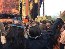 Kingsland festival i Amsterdam Royaltyfria Bilder