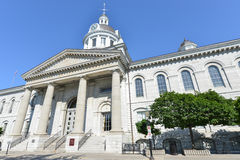 Kingston City Hall, Ontario, Canada. Kingston City Hall in Kingston, Ontario, Canada. The city hall is a prominent edifice constructed in the Neoclassical style royalty free stock photos