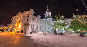 Kingston City Hall, Ontario at Night Stock Image