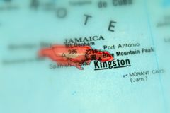 Kingston, a city in Jamaica. Selective focus royalty free stock image