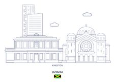 Kingston City Skyline, Jamaica Royalty Free Stock Photo
