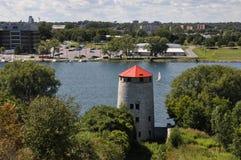 Kingston da Henry Hill forte, Canada immagine stock