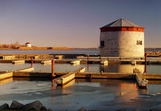 Kingston in the evening. Pier in Kingston, Ontario, Canada Royalty Free Stock Photography