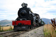 Kingston Flyer train. The Kingston Flyer was originally, a passenger express train between Kingston, Gore, Invercargill. It was operated by the New Zealand Royalty Free Stock Photo
