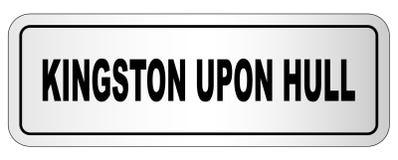 Kingston Upon Hull City Nameplate ilustração stock