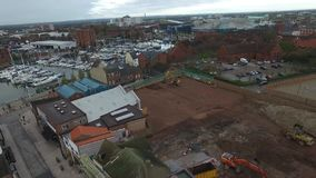 Kingston upon Hull city skyline stock footage