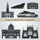 Kingston Upon Hull landmarks and monuments Royalty Free Stock Image