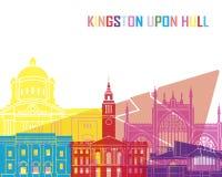 Kingston Upon Hull skyline pop Royalty Free Stock Photos