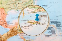 Kingston, Jamaica map Royalty Free Stock Images