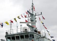 Kingston Naval Signal Flags della nave da guerra 2008 immagini stock libere da diritti