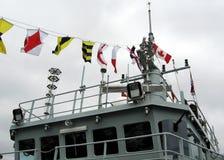 Kingston The Naval Signal Flags della nave da guerra 2008 fotografia stock libera da diritti