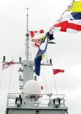 Kingston Naval Signal Flags della spazzatrice Kingston 2008 fotografie stock