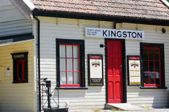 Kingston - New Zealand. KINGSTON, NZ - JAN 15:Kingston train station on Jan 15 2014. It's the home of the vintage steam train Kingston Flyer Stock Photos