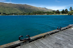 Kingston - New Zealand. Kingston old pier on lake Wakatipu in the south Island, New Zealand Stock Images