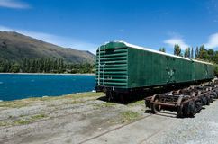 Kingston - New Zealand. KINGSTON, NZ - JAN 15:An old train car in Kingston on lake Wakatipu on Jan 15 2014. It's the home of the vintage steam train Kingston Royalty Free Stock Photos