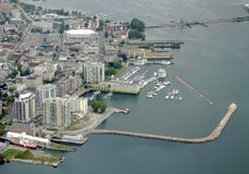 Kingston Ontario aerial stock photo