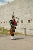 Kingston Ontario Canada Fort Henry Guard Bagpiper Royalty Free Stock Image