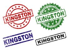 KINGSTON Seal Stamps texturisé endommagé Illustration Stock