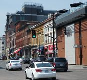 Kingston storica del centro, Ontario, Canada sul lago Ontario fotografie stock libere da diritti