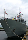 Kingston the sweeper Kingston 2008. The warship sweeper Kingston in mooring of Kingston Ontario, Canada Royalty Free Stock Photo