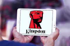 Kingston Technology Corporation logo. Logo of Kingston Technology Corporation on samsung tablet. Kingston is an American multinational computer technology Stock Photography