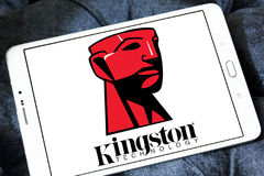 Kingston Technology Corporation logo. Logo of Kingston Technology Corporation on samsung tablet. Kingston is an American multinational computer technology Royalty Free Stock Photography
