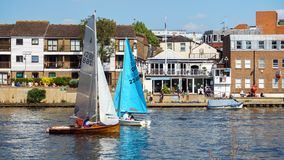 Free Kingston Upon Thames, Sailing Boats, London, United Kingdom, May 21, 2018 Stock Photos - 146012763