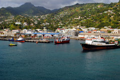Kingstown St Vincent. Kingstown town in St Vincent the West Indies Stock Photography