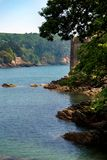 Kingswear and Dartmouth Castle, Devon, United Kingdom, May 24, 2018 stock photos
