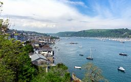 Kingswear Opposite Dartmouth on the Dart Estuary, Devon, United Kingdom, May 21, 2018 royalty free stock photography