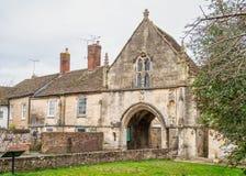 Kingswood Abbey Gateway, Kingswood, Gloucestershire, Förenade kungariket arkivfoto