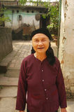 Kinh( Viet ) ethnic grandmother Royalty Free Stock Photos