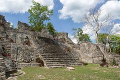 Kinichna考古学站点在金塔纳罗奥州墨西哥 库存照片