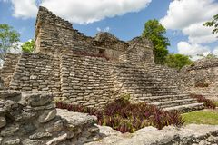 Kinichna archeological site in Quintana Roo Mexico. Ancient Maya temple at the Kinichna archeological site in Quintana Roo Mexico Stock Image