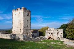 Kinizsi castle. Ruin of Medieval aged stone Kinizsi castle in Nagyvazsony, Hungary Royalty Free Stock Photos