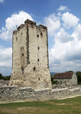 Kinizsi castle in Nagyvazsony, Hungary. This tower is a detail from the Kinizsi castle Royalty Free Stock Images