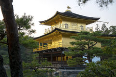 Kinkaku籍,金黄亭子在京都 免版税图库摄影