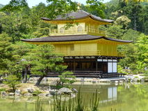 Kinkaku籍,金黄Pavillion的寺庙,京都,日本 库存图片