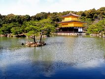 Kinkaku (The Golden Pavilion). Golden Pavilion Temple (Kyoto) is one of Japan's most famous temples. World Heritage listed, and it is truly unique Royalty Free Stock Photos